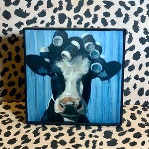 Heifer in Curlers Frame